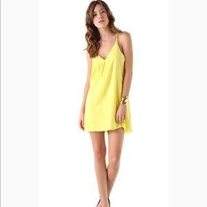 Alice + Olivia Fierra Y back dress bright yellow
